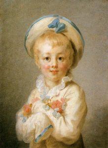 Chłopiec w stroju Pierrota