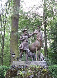 Rzeźba św. Huberta w Promnicach