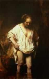 Rembrandt van Rijn, Kobieta kąpiąca się w strumieniu