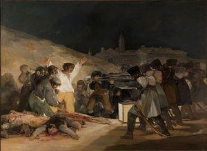 Rozstrzelanie powstańców madryckich na wzgórzu Príncipe Pío